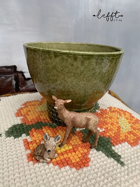 Vintage groene pot