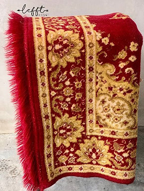Rood vintage Perzisch tapijt