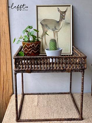 Vintage Rotan Bamboe (Plant) Tafel Large