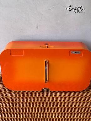 Retro Schoenpoetsdoos Oranje 70's