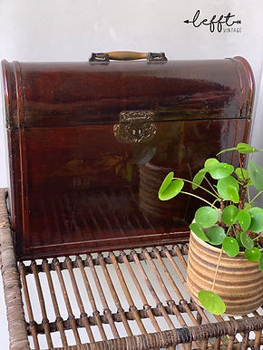 Vintage Houten Wijn Koffer