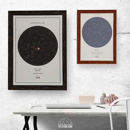 Star Map - Framed