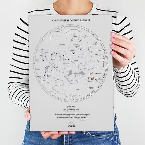 Star Map - Engraved Plexi