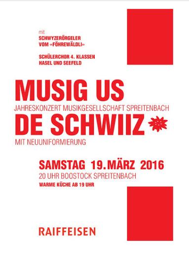 MGS Jahreskonzert 19. März 2016