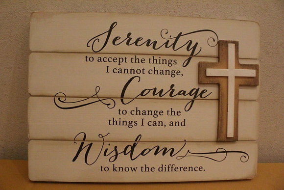 SERENITY Wooden Sign