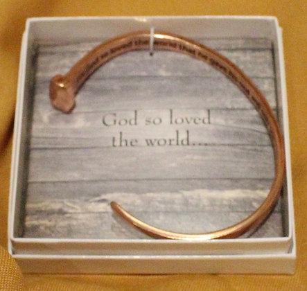 JOHN 3:16 Cuff Bracelet