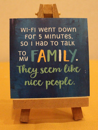 FAMILY WI-FI Wooden Sign