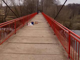 Субботник 22 апреля на пешеходном мосту
