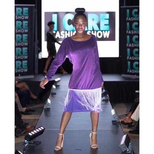 Purple 20's dress style