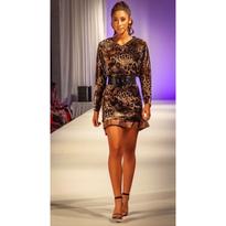 Top or Dress in burned out velvet