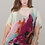 Thumbnail: Chiffon large scale abstract floral in shades of orange, rust and purple.