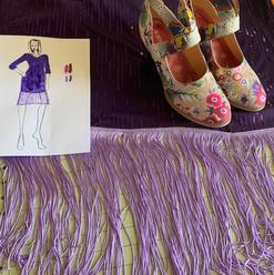 I designed this dress around the shoes
