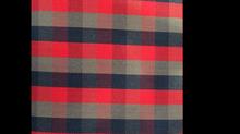 Tissu écossais R4 rouge/bleu