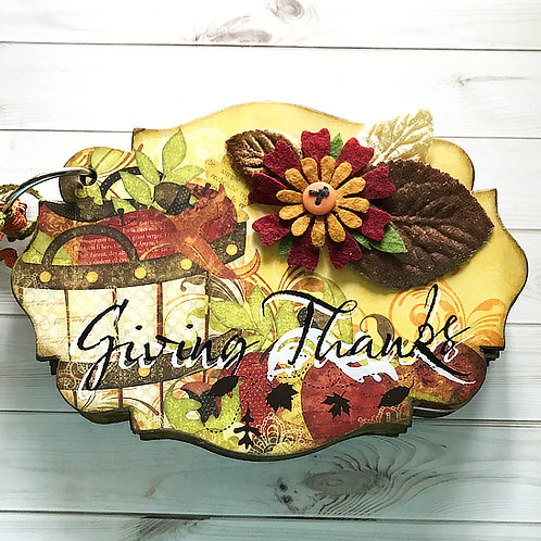 Giving Thanks Scrapbook