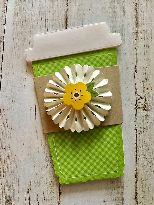 Yellow Flower Gift Card Holder
