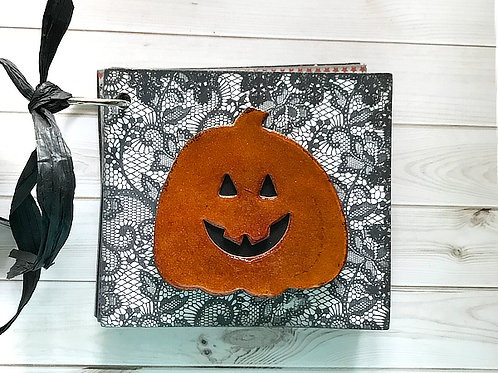 Silly Pumpkin Mini Scrapbook