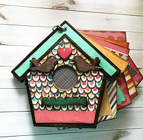 Chipboard Scrapbook Birdhouse Lovebirds