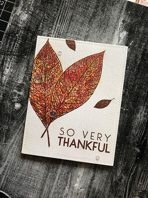 So Very Thankful Thanksgiving Card