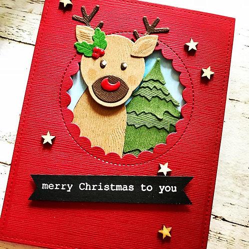Merry Christmas to You Reindeer Card
