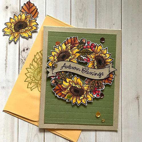 Autumn Blessings Thanksgiving Card