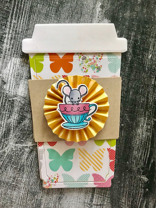 Mouse in Teacup Gift Card Holder