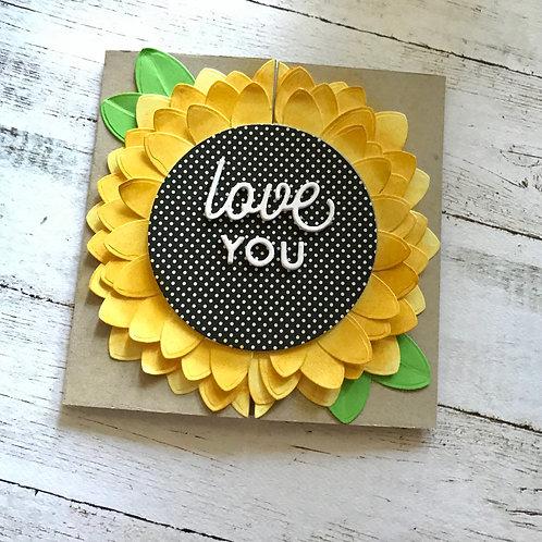 Sunflower Love Gatefold Card