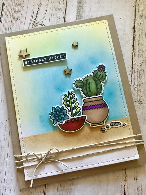 Cactus Birthday Wishes Birthday Card