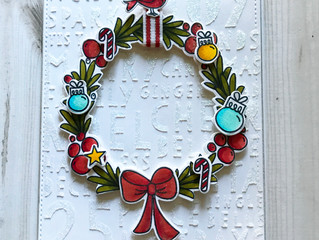 Glittery Wreath Card