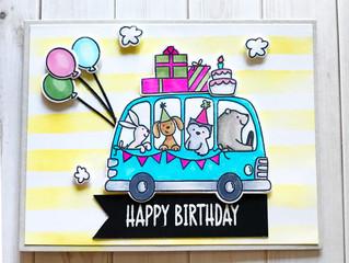 Blue Birthday Bus