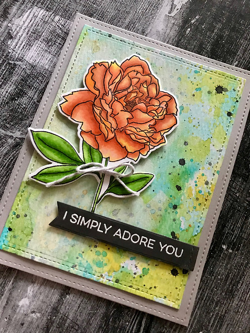 I Simply Adore You Blank Card