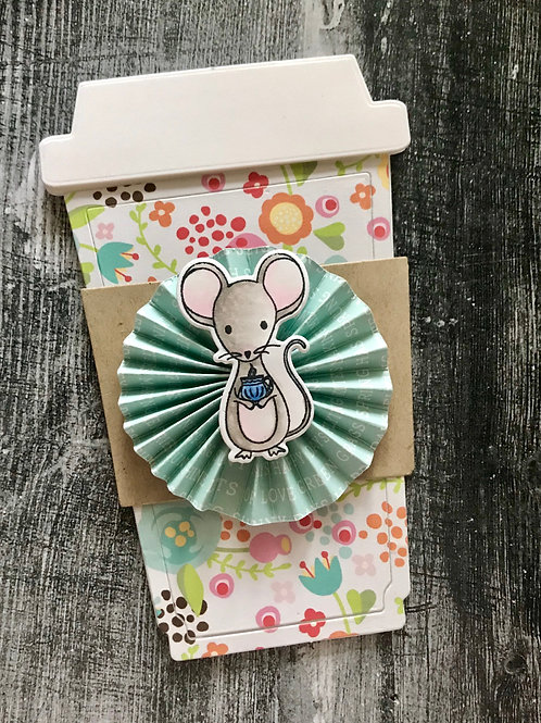 Mouse with Cup Gift Card Holder