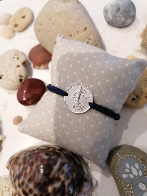 Bracelet 1 Franc argent