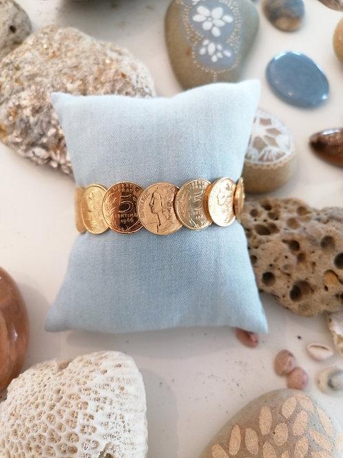 Bracelet Jonc Soudé 5 centimes Or Jaune