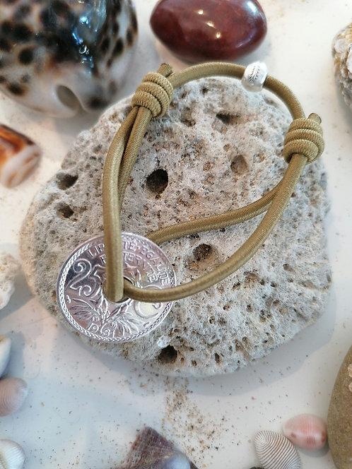 """Bracelet collection """"Un soir sur la mer"""" Pièce ancienne Argent"""