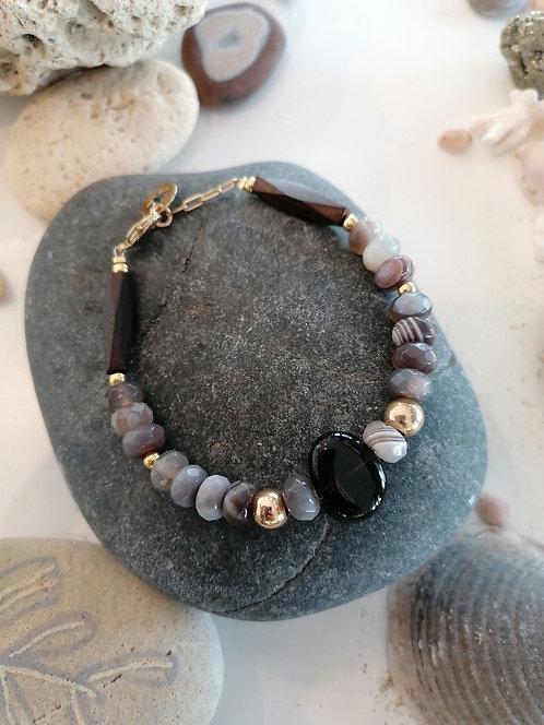"""Bracelet collection Océan """"Ebène Précieux"""""""