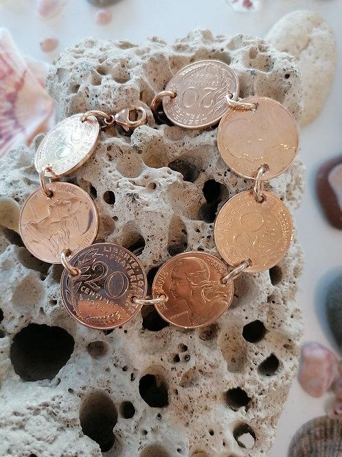 """Bracelet """"Révolution""""20 centimes Or jaune"""