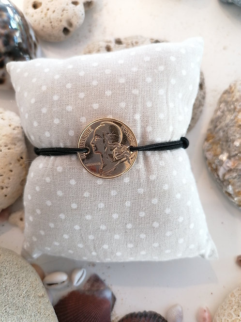 Bracelet 10 centimes Or Jaune
