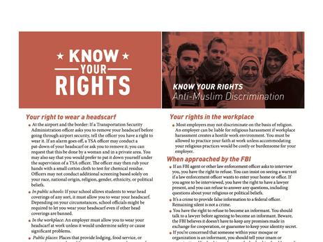 ACLU Handout - KYR: Anti-Muslim Discrimination