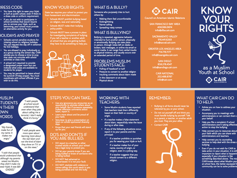 CAIR Handout - Know Your Rights as a Muslim Youth at School