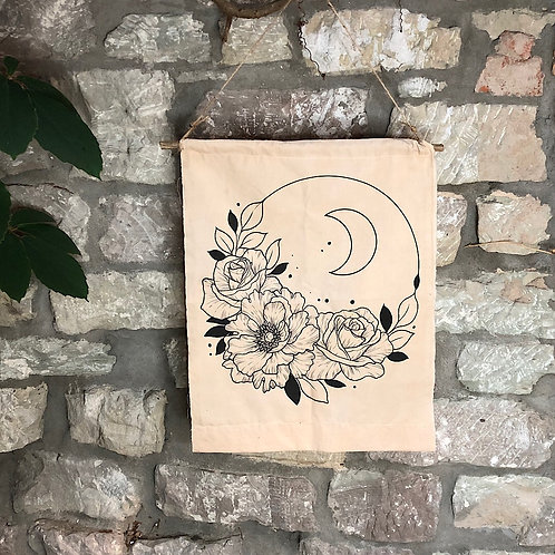 "Wallhanger ""Flower Moon"""