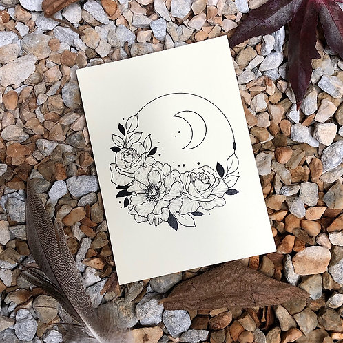 "Postkarte ""Flower Moon"""