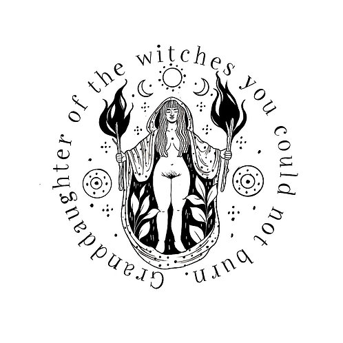 """""""Granddaughter of the witches"""" quadratischer Print"""