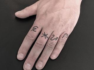#Handpoked #alchemysymbols . Thanks for