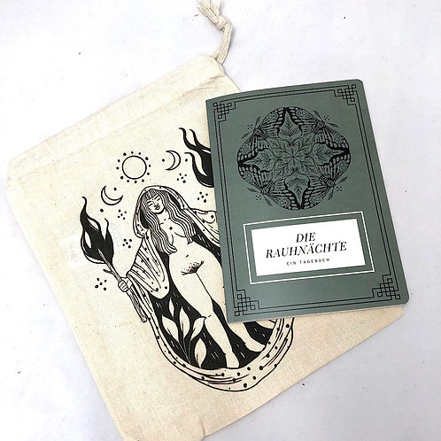 Rauhnächte Tagebuch mit Ritualbeutel