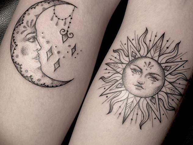 Tattoorituals Sonne und Mond Tatto Wade