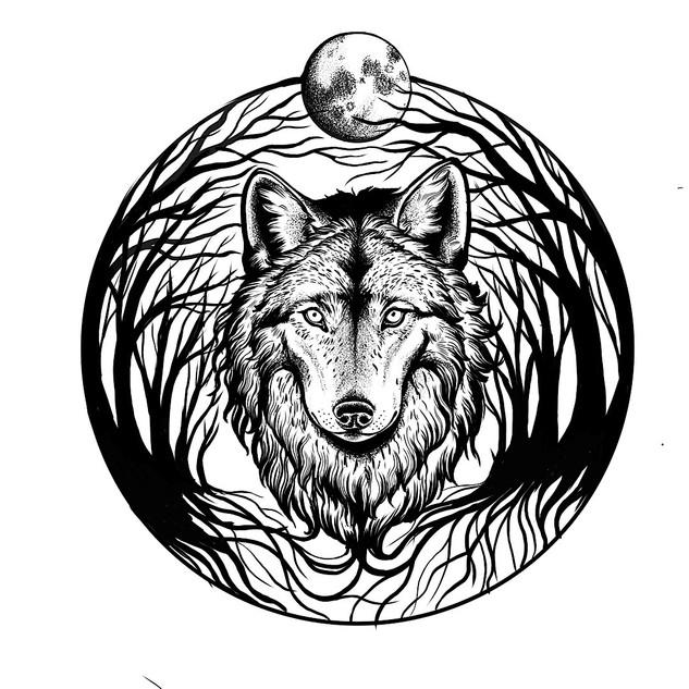 Wolf Illustration von Sarah Rosa Helfen