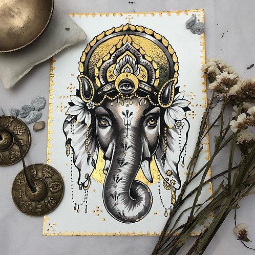 """Ganesha"" Orignial, Mixed Media"