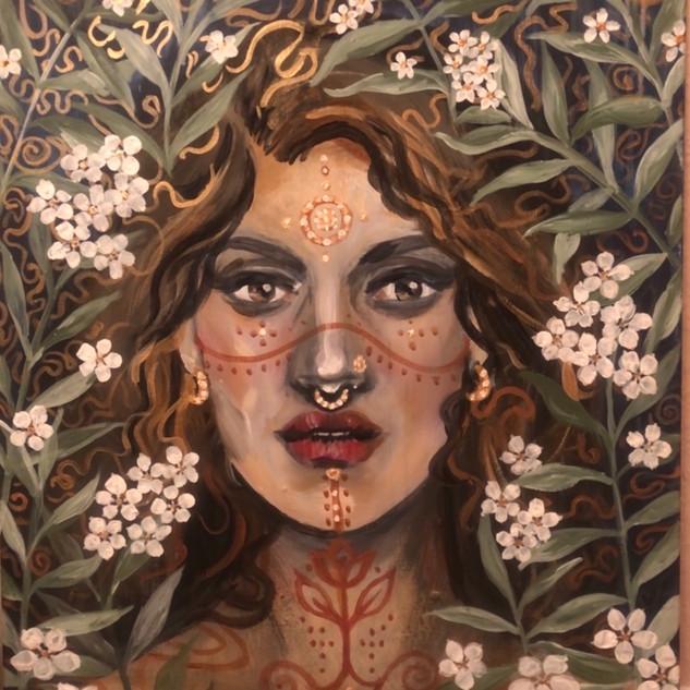 Pachamama Acryl Malerei von Sarah Rosa H