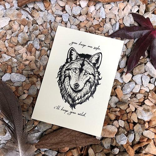 "Postkarte ""Wolf"""