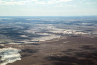 Lake Eyre Filling Up After the Rain, South Australia